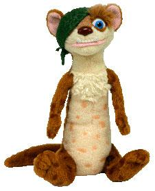 Ty Ice Age Beanie Babies Buck the Weasel