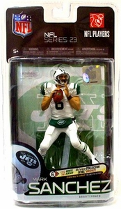 McFarlane Toys NFL Sports Picks Series 23 Action Figure Mark Sanchez (New York Jets) White Jersey Bronze Collector Level Chase Only 3,000 Made!