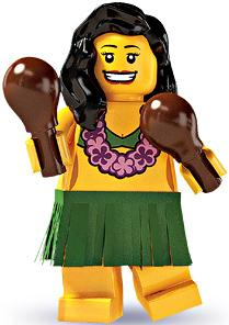 LEGO Minifigure Collection Series 3 LOOSE Mini Figure Hula Dancer