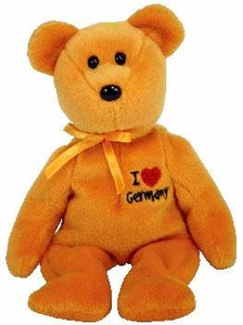 Ty Beanie Baby I Love Germany the Bear