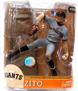 McFarlane Toys MLB Sports Picks Series 20 Exclusive Action Figure Barry Zito (San Francisco Giants) Gray Jersey Chase Piece