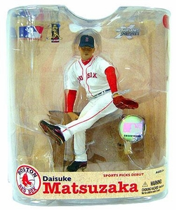 McFarlane Toys MLB Sports Picks Series 21 Action Figure Daisuke Matsuzaka (Boston Red Sox) White Jersey No Patches