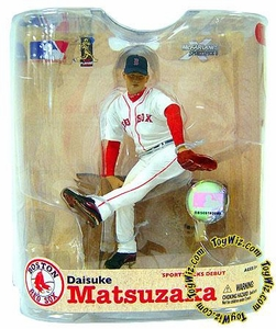 McFarlane Toys MLB Sports Picks Series 21 Action Figure Daisuke Matsuzaka (Boston Red Sox) White Jersey with World Series Patch on Hat