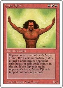Magic the Gathering Revised Edition Single Card Rare Mijae Djinn