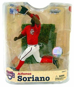 McFarlane Toys MLB Sports Picks Series 21 Action Figure Alfonso Soriano (Washington Nationals) Red Nationals Jersey Variant