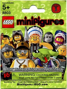 LEGO Minifigure Series 3 Mystery Pack [1 Random Mini Figure!]