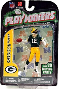 McFarlane Toys NFL Playmakers Series 3 Action Figure Aaron Rodgers (Green Bay Packers)