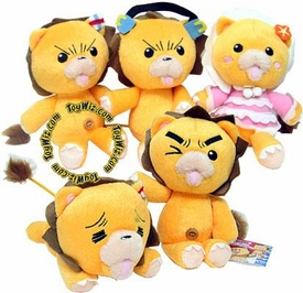 Bleach 7 Inch Stuffed Animal Series Set of 5 Kon (Konpaku) Plush Figures