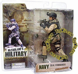 McFarlane Toys Military Soldiers Series 2 (2nd Tour of Duty) Action Figure Navy Seal Commando (*Random Ethnicity)