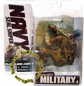 McFarlane Toys Military Soldiers Series 4 Action Figure Navy SEAL Sniper [African American]