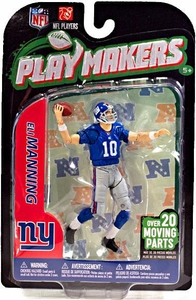 McFarlane Toys NFL Playmakers Series 3 Action Figure Eli Manning (New York Giants)