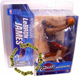 McFarlane Toys NBA Sports Picks Series 10 Action Figure LeBron James (Cleveland Cavaliers) Blue Jersey