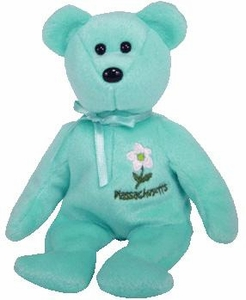 Ty Beanie Baby Massachusetts Mayflower Flower Bear