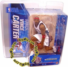 McFarlane Toys NBA Sports Picks Series 10 Action Figure Vince Carter (New Jersey Nets) White Jersey