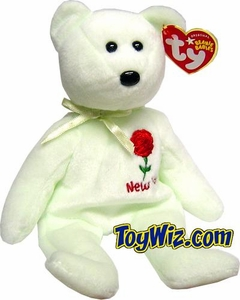 Ty Beanie Baby Show Exclusive New York Rose Flower Bear