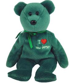 Ty Beanie Baby I Love New Jersey the Bear