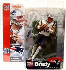 McFarlane Toys NFL Sports Picks Series 5 Action Figure Tom Brady (New England Patriots) White Jersey Damaged Package, Mint Contents!