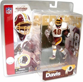 McFarlane Toys NFL Sports Picks Series 5 Action Figure Stephen Davis (Washington Redskins) White Jersey