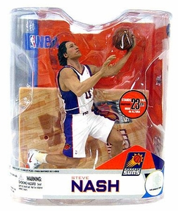 McFarlane Toys NBA Sports Picks Series 14 Action Figure Steve Nash (Phoenix Suns) White Jersey Variant