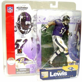 McFarlane Toys NFL Sports Picks Series 5 Action Figure Ray Lewis (Baltimore Ravens) Purple Jersey Variant