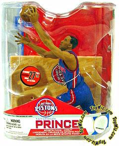 McFarlane Toys NBA Sports Picks Series 14 Action Figure Tayshaun Prince (Detroit Pistons) Blue Jersey