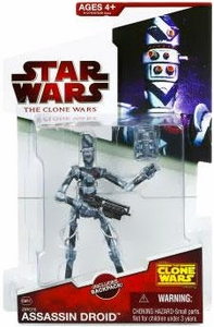 Star Wars 2009 Clone Wars Animated Action Figure CW No. 37 Ziro's Assassin Droid