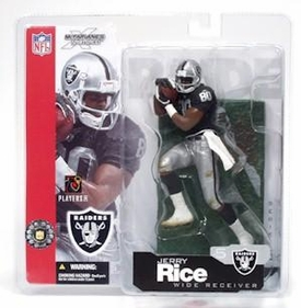 McFarlane Toys NFL Sports Picks Series 5 Action Figure Jerry Rice (Oakland Raiders) Black Jersey