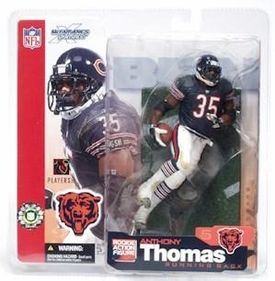 McFarlane Toys NFL Sports Picks Series 5 Action Figure Anthony Thomas (Chicago Bears) Blue Jersey