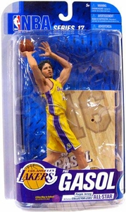 McFarlane Toys NBA Sports Picks Series 17 [2009 Wave 2] Action Figure Pau Gasol (Los Angeles Lakers) Yellow Jersey