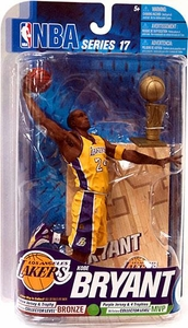 McFarlane Toys NBA Sports Picks Series 17 [2009 Wave 2] Action Figure Kobe Bryant (Los Angeles Lakers) Yellow Jersey with Trophy Bronze Collector Level Chase Only 2,000 Made!