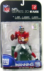 McFarlane Toys NFL Sports Picks Series 20 [2009 Wave 1] Action Figure Eli Manning (New York Giants) Red Jersey Variant
