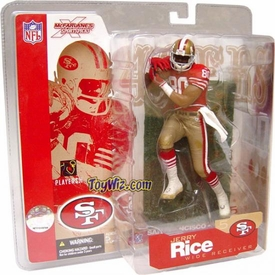 McFarlane Toys NFL Sports Picks Series 5 Action Figure Jerry Rice (San Fransisco 49ers) Red Jersey Retro Variant
