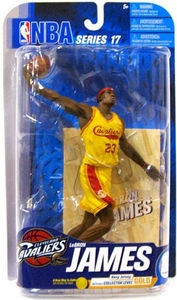 McFarlane Toys NBA Sports Picks Series 17 [2009 Wave 2] Action Figure Lebron James (Cleveland Cavaliers) Yellow Jersey