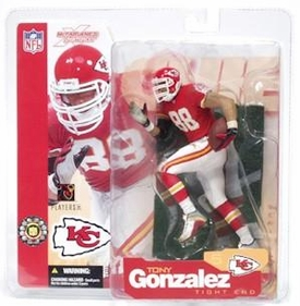 McFarlane Toys NFL Sports Picks Series 5 Action Figure Tony Gonzalez (Kansas City Chiefs) Red Jersey