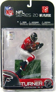 McFarlane Toys NFL Sports Picks Series 20 [2009 Wave 1] Action Figure Michael Turner (Atlanta Falcons) Red Jersey Variant