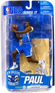 McFarlane Toys NBA Sports Picks Series 17 [2009 Wave 2] Action Figure Chris Paul (New Orleans Hornets) Teal Jersey Silver Collector Level Chase Only 500 Made!