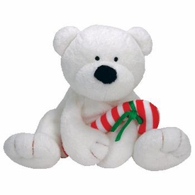 Ty Pluffies Plush Candy Cane the Polar Bear