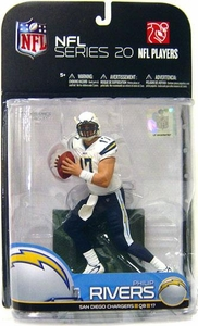 McFarlane Toys NFL Sports Picks Series 20 [2009 Wave 1] Action Figure Philip Rivers (San Diego Chargers) White Jersey Variant