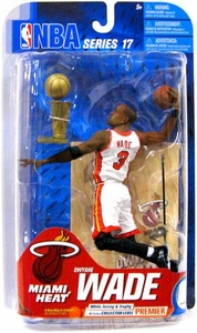 McFarlane Toys NBA Sports Picks Series 17 [2009 Wave 2] Action Figure Dwyane Wade (Miami Heat) White Jersey & Trophy Premier Collector Level Chase Only 250 Made!