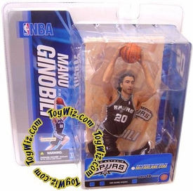 McFarlane Toys NBA Sports Picks Series 10 Action Figure Manu Ginobili (San Antonio Spurs) Black Jersey