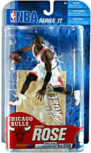 McFarlane Toys NBA Sports Picks Series 17 [2009 Wave 2] Action Figure Derrick Rose (Chicago Bulls)White Jersey Gold Collector Level Only 100 Made!