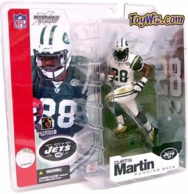 McFarlane Toys NFL Sports Picks Series 4 Action Figure Curtis Martin (New York Jets) White Jersey Variant