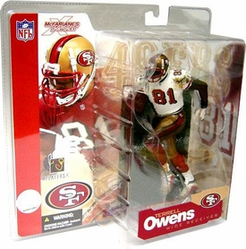 McFarlane Toys NFL Sports Picks Series 4 Action Figure Terrell Owens (San Francisco 49ers) White Jersey Variant