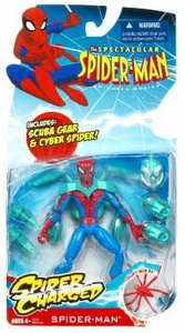 Spectacular Spider-Man Animated Spider Charged Action Figure Scuba Suit Spider-Man