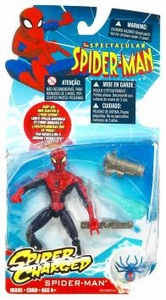 Spectacular Spider-Man Animated Spider Charged Action Figure Spider-Man{Red & Black} [Snap-On Web Blaster & Cyber Spider]