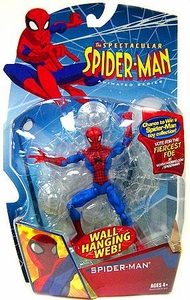 Spectacular Spider-Man Animated Series 1 Action Figure Spider-Man [Wall Hanging Web]