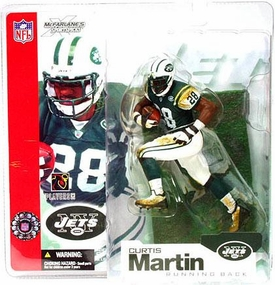 McFarlane Toys NFL Sports Picks Series 4 Action Figure Curtis Martin (New York Jets) Green Jersey