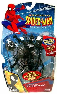Spectacular Spider-Man Animated Series 1 Action Figure Black Costume Spider-Man [Wall Hanging Web]