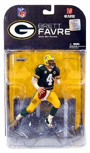McFarlane Toys NFL Sports Picks Series 17 [2008 Wave 1] Action Figure Brett Favre (Green Bay Packers) Has Captain 'C' On Jersey