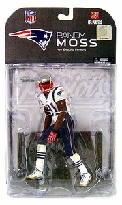 McFarlane Toys NFL Sports Picks Series 17 [2008 Wave 1] Action Figure Randy Moss (New England Patriots) White Armband